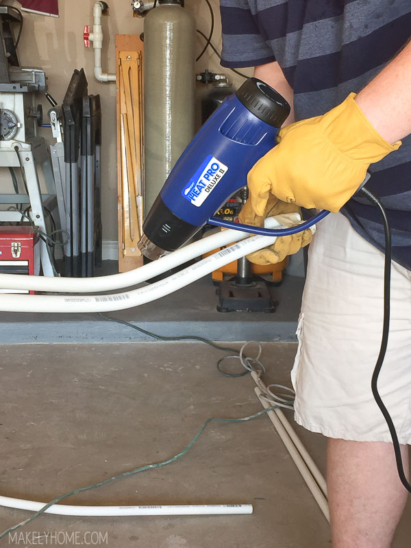 How to bend pvc pipe with a heat gun
