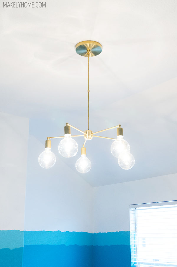 5 Arm Adjustable Brass Chandelier DIY