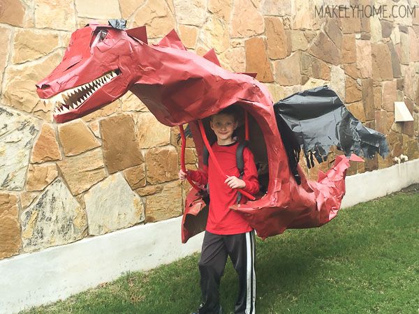 How to make a dragon costume