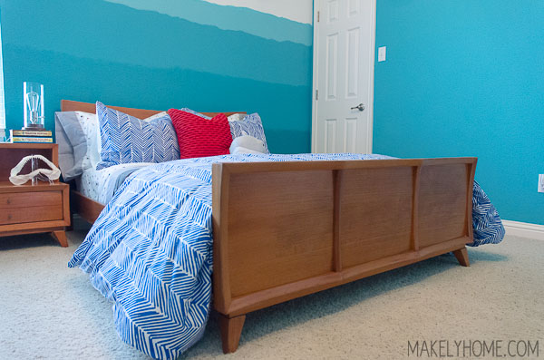 No hassle update for a Mid-Century Modern bed