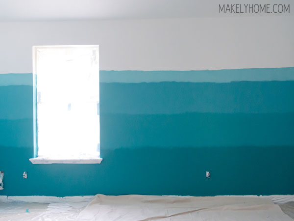 How to Paint an Ombre Wall