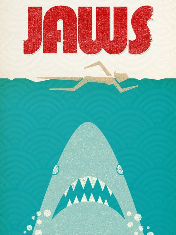 how to create a piece of modern jaws artwork makely