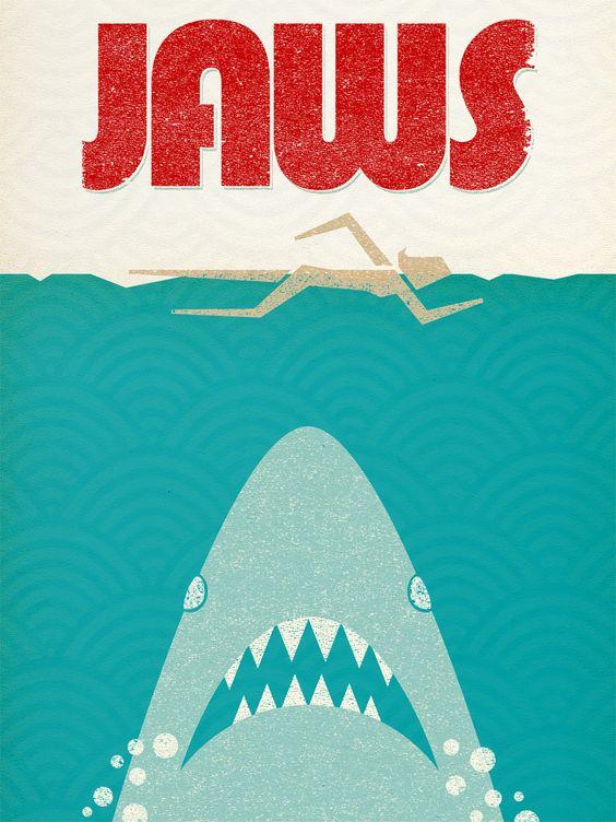 Vintage minimal Jaws poster