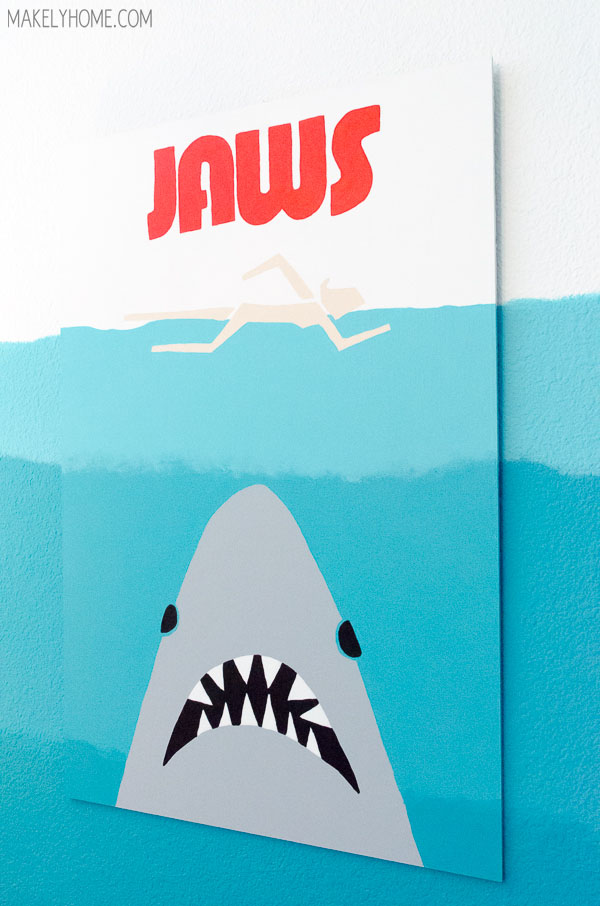 DIY Modern Jaws Artwork via MakelyHome.com