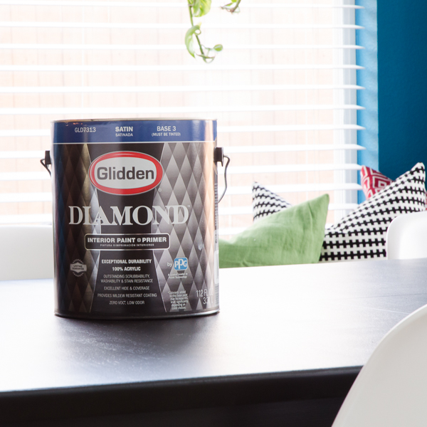 Using Glidden's new Diamond paint on furniture